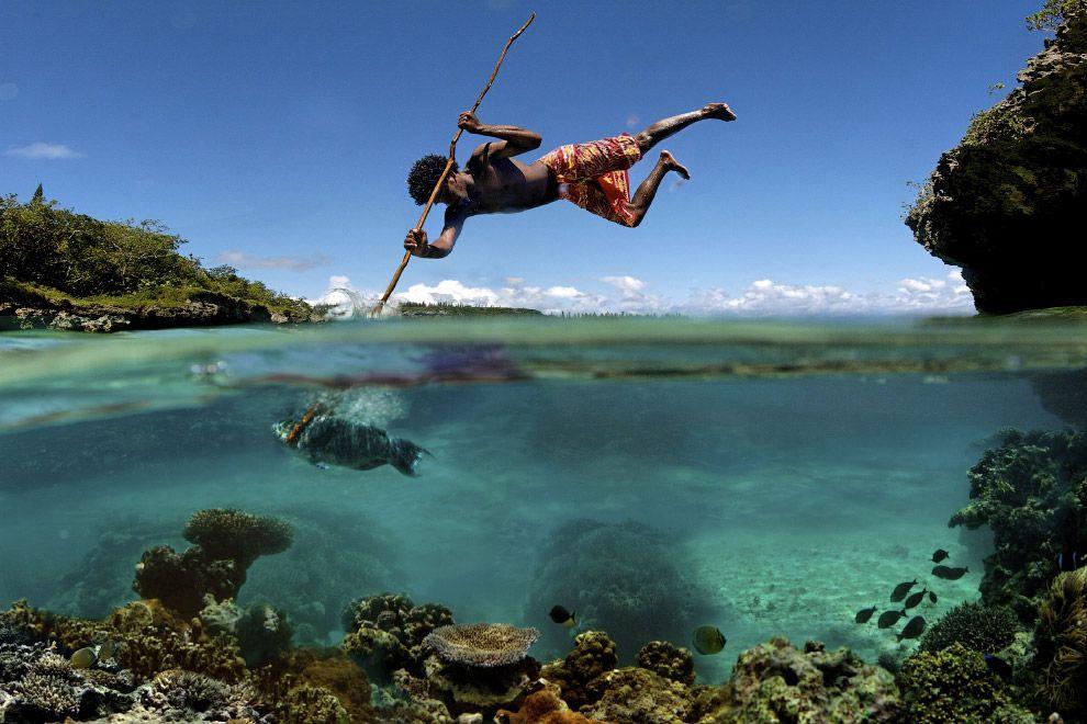 8. Рыбалка на острове Маре в Тихом океане