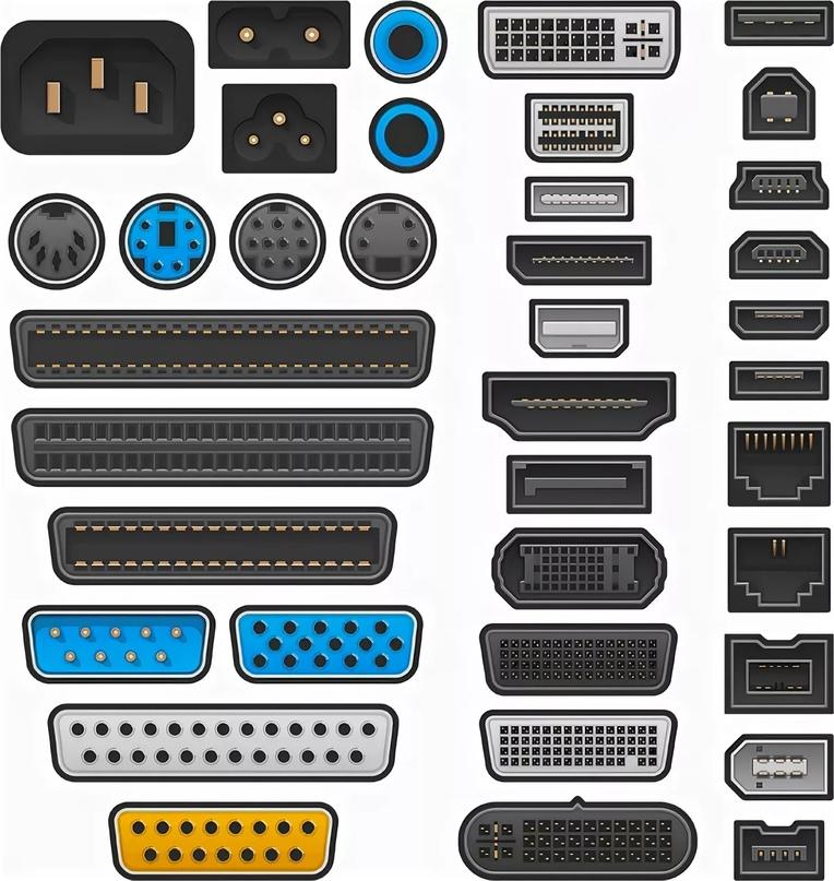 разьемы и адаптеры для портов компьютера